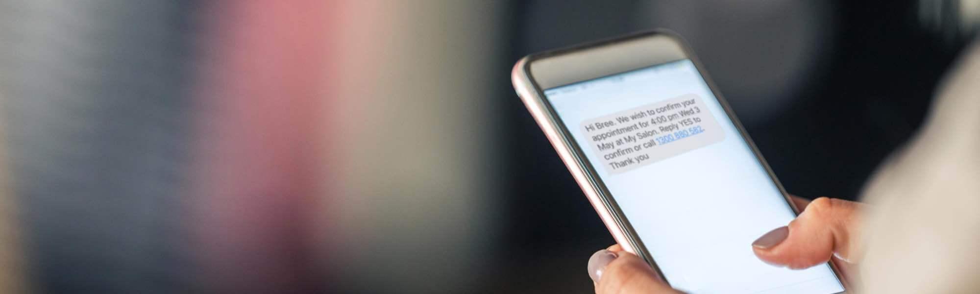 Slider 2 background SMS salon software feature